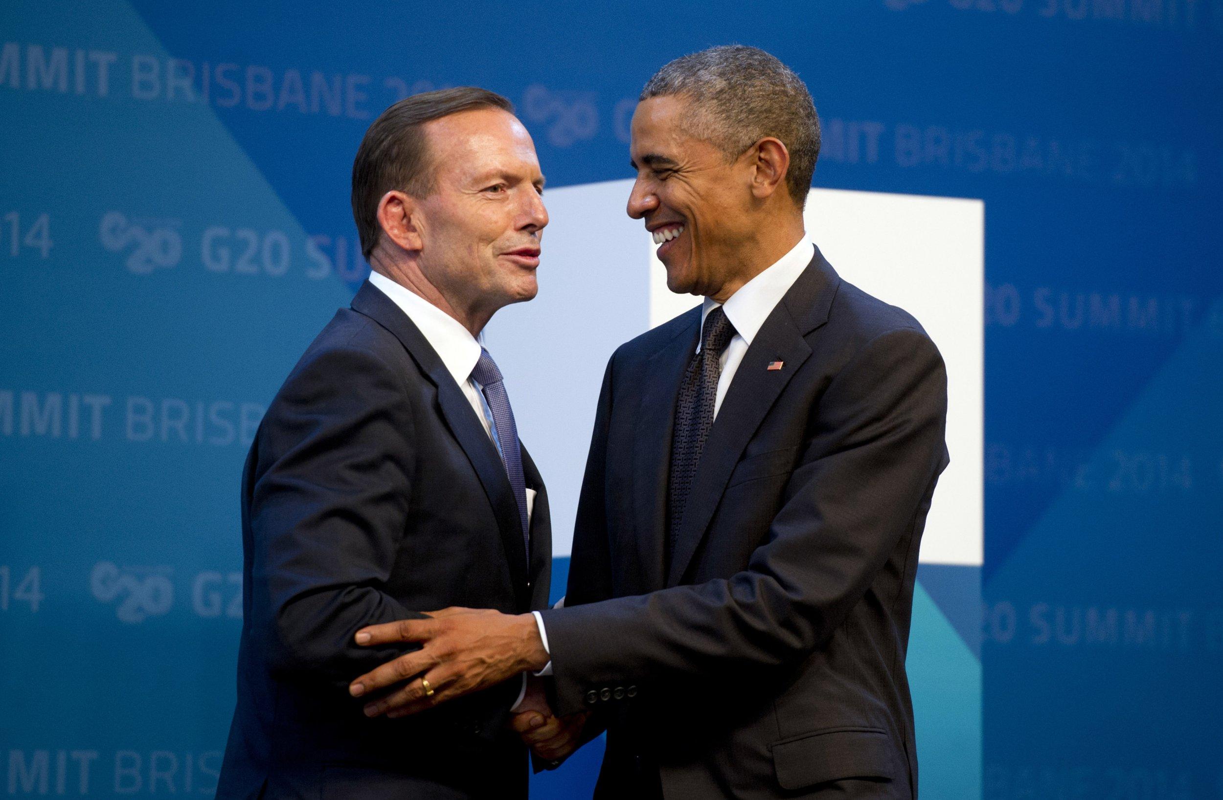 Tony Abbott and Obama