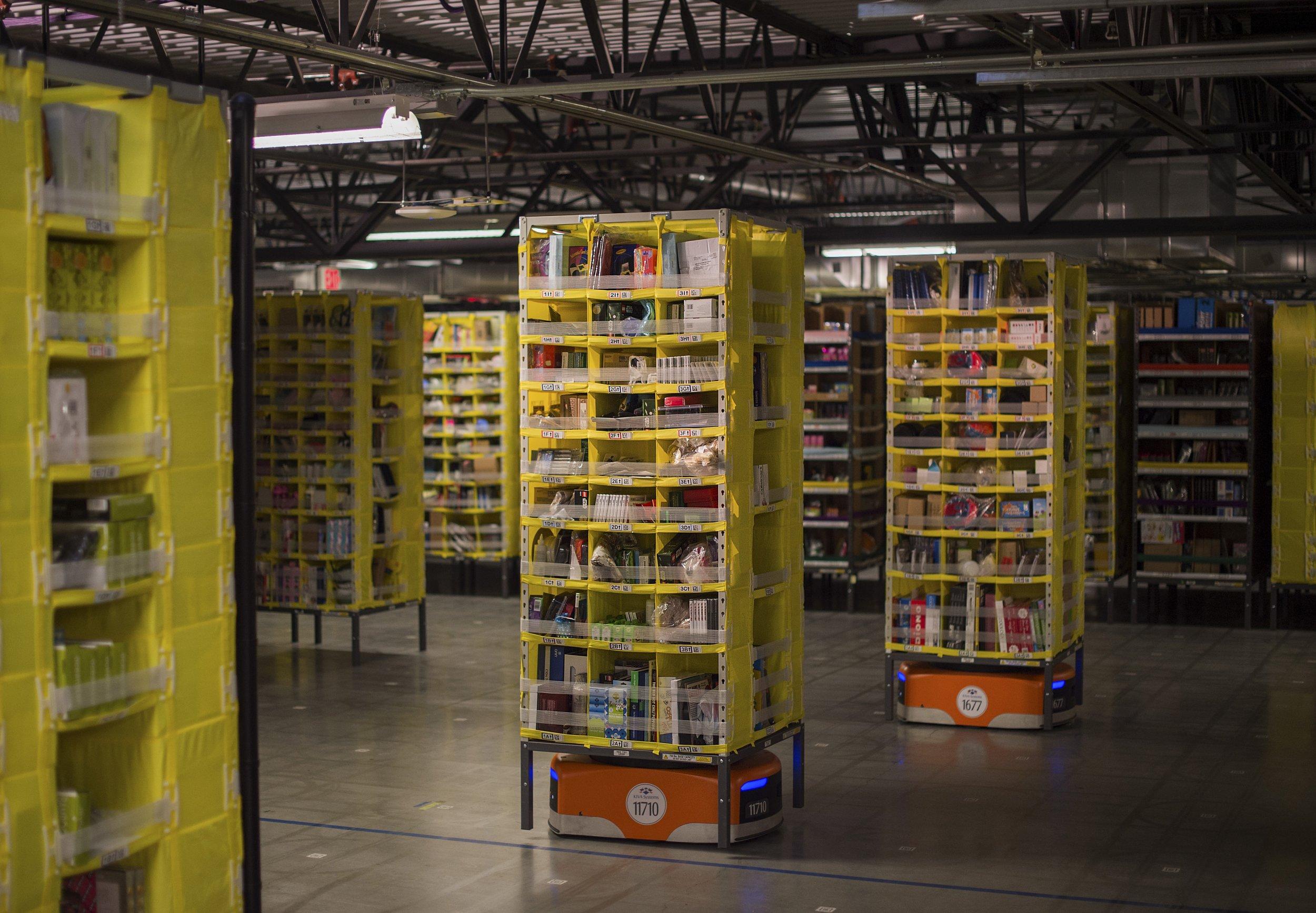 Kiva robots at Amazon