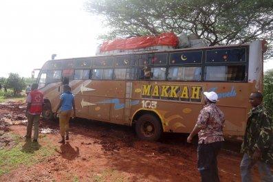 Ambushed bus