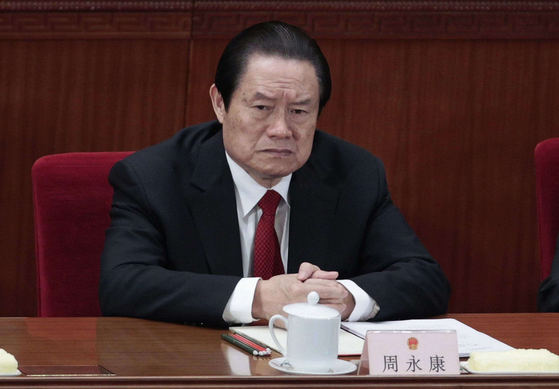 Zhou Yongkang expelled and arrested