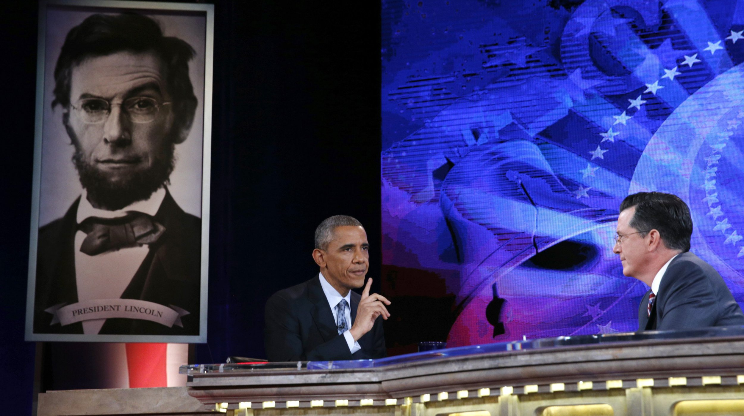 Obama on Colbert