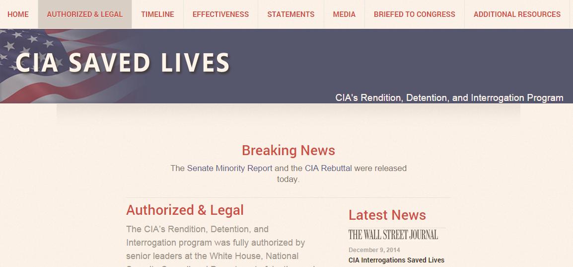 CIA Saved Lives Website
