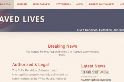 CIA Saved Lives Website