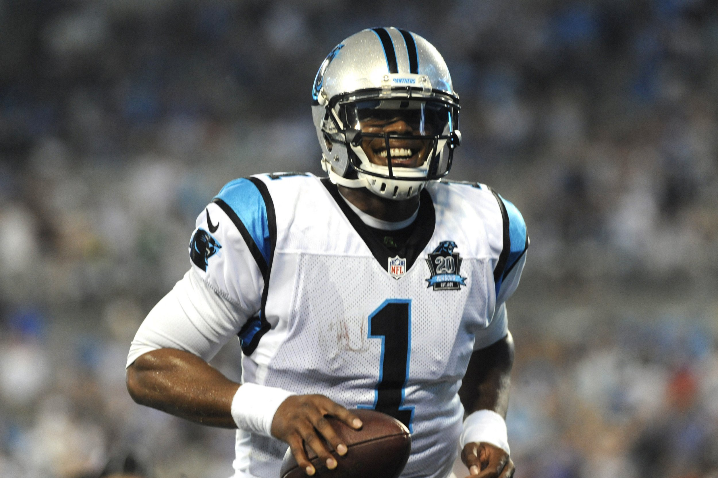 f2c45c90610 Carolina Panthers quarterback Cam Newton during the first half of a game  against the Kansas City Chiefs. Sam Sharpe USA TODAY Sports