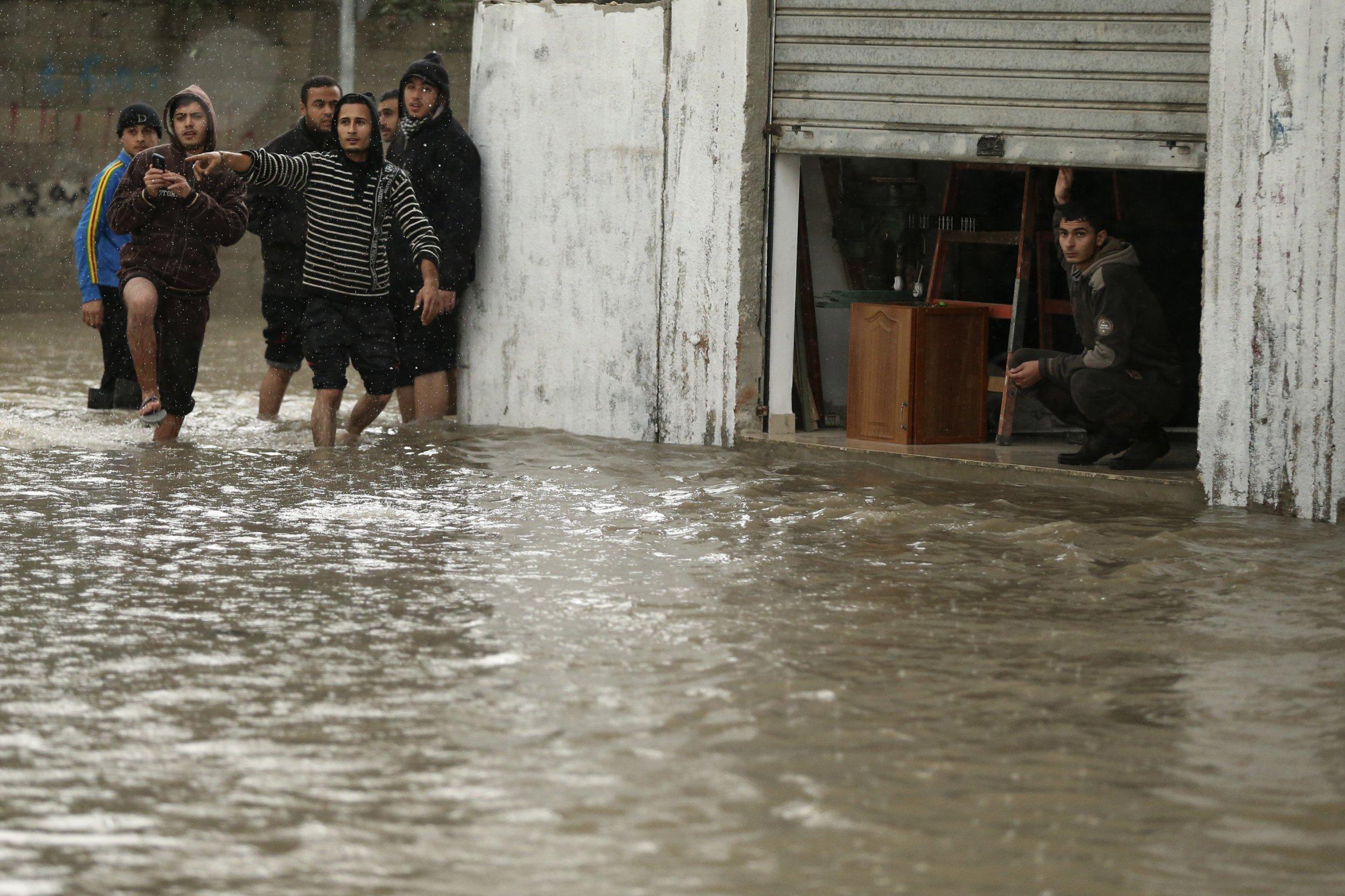 Gaza flooding