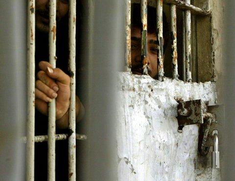 An Iraqi detainee in prison