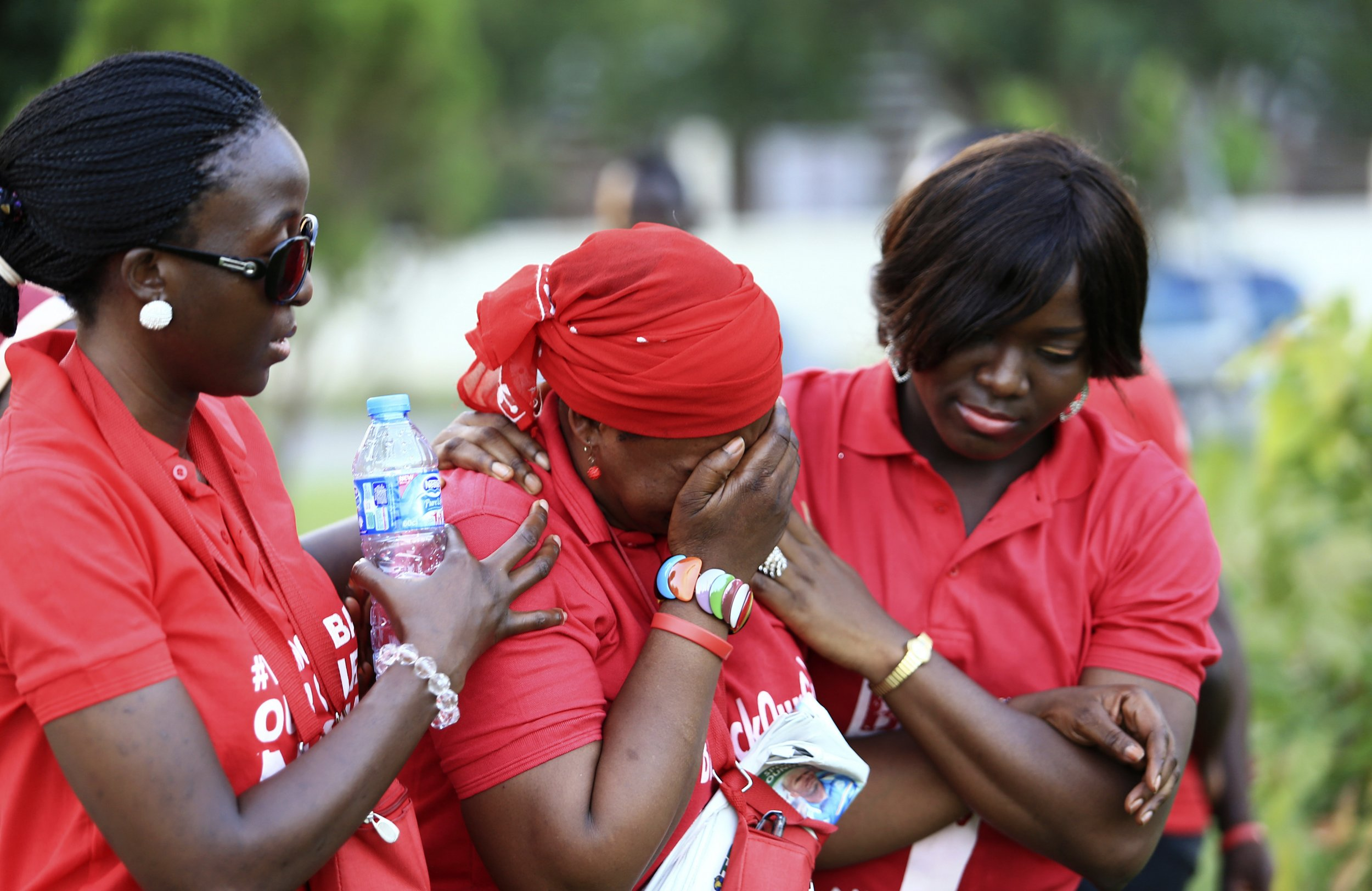 Image result for Women Crying after Boko Haram Attack