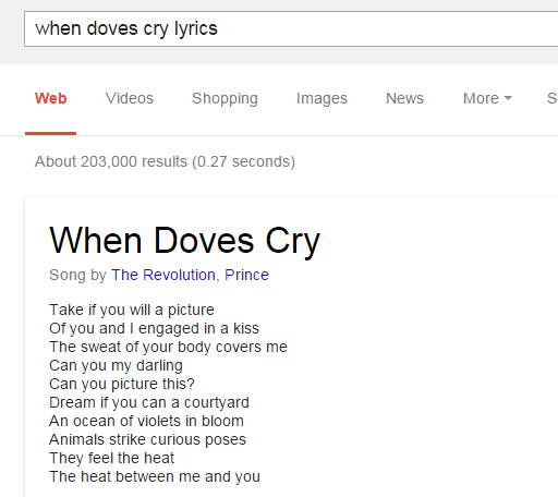 Lyrics: Google Just Made It Much Easier To Find Song Lyrics—Except