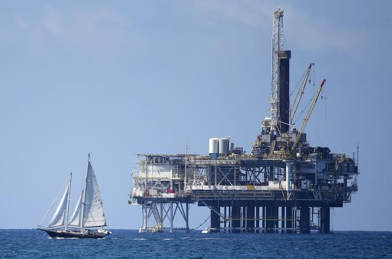 oil platform, huntington beach, california