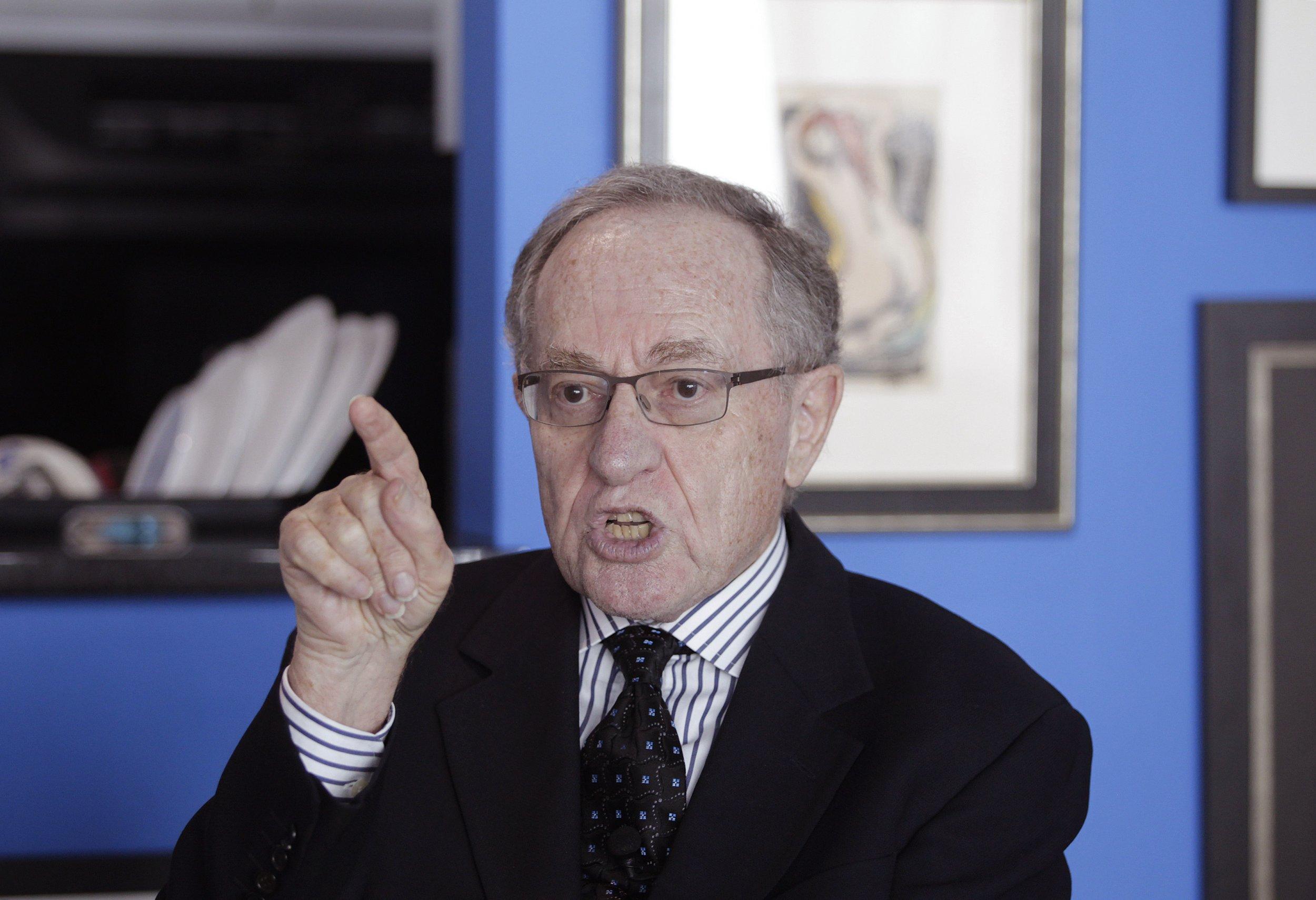 Alan Dershowitz denies sex claims