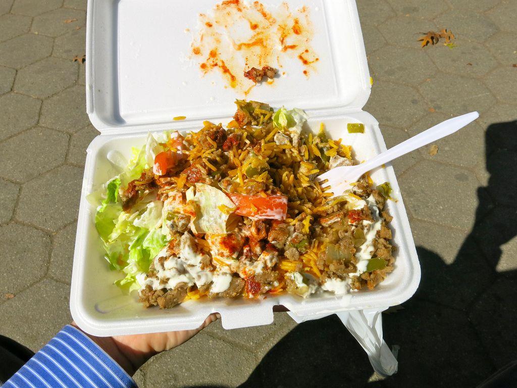 Halal food styrofoam