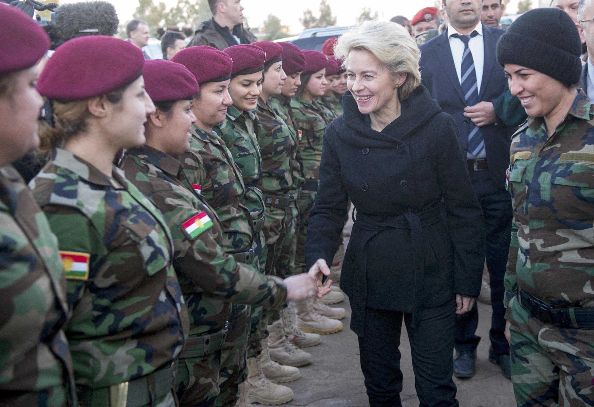 Von Leyen meets Kurdish Forces