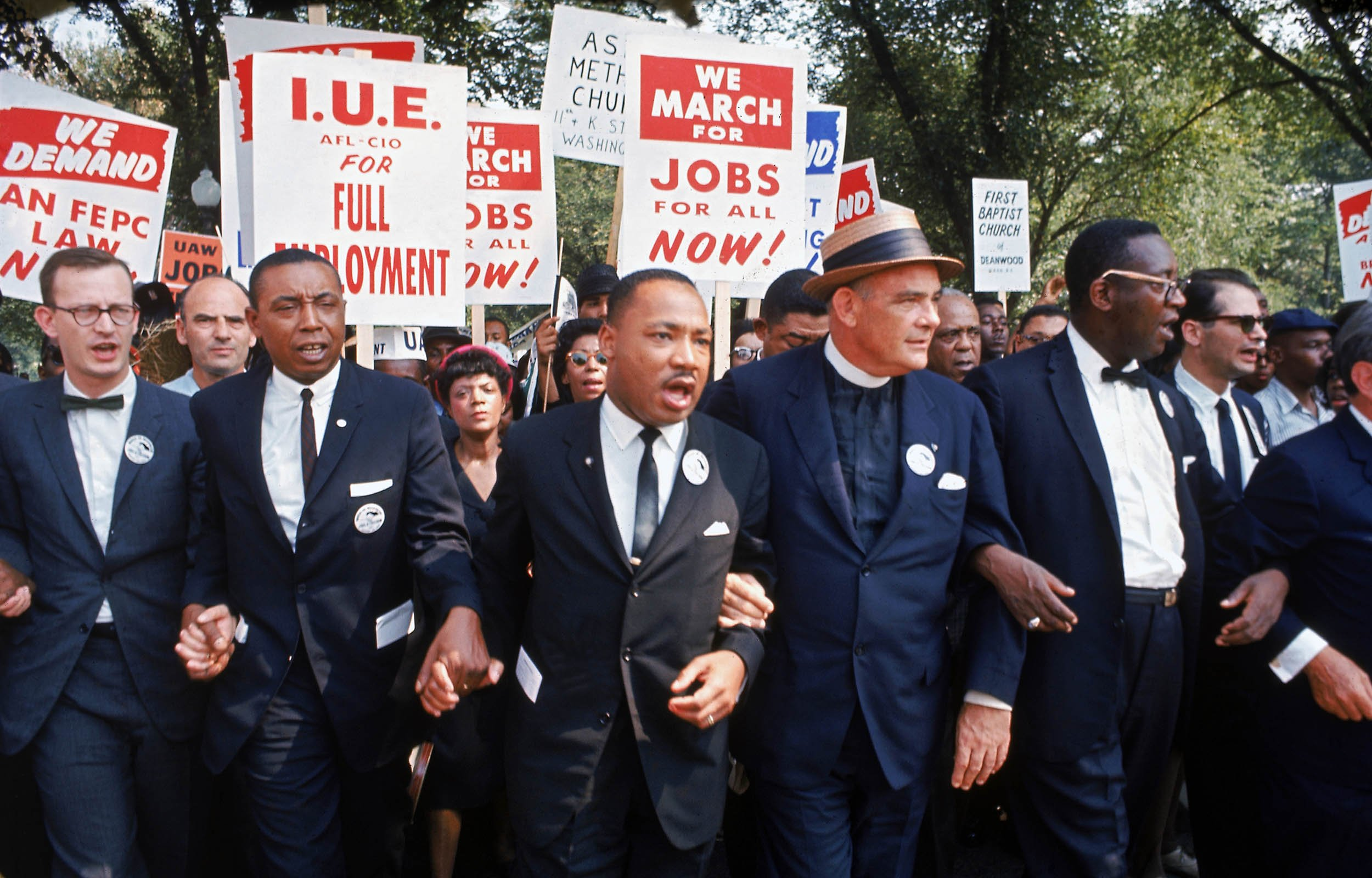 march washington luther mlk martin king jr dr civil marching 1963 rights freedom lewis rally jobs dc john signs speech