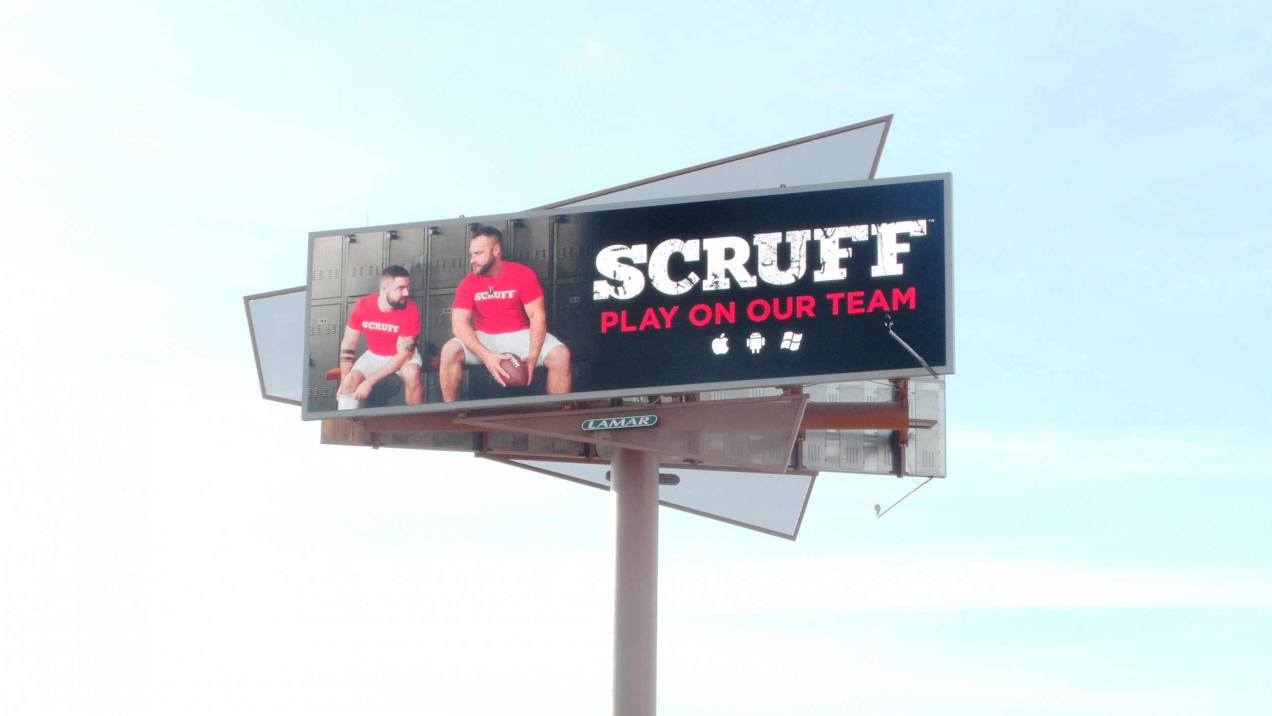 Gay Dating App Scruff Puts 48-Foot Billboard Near Super Bowl Stadium