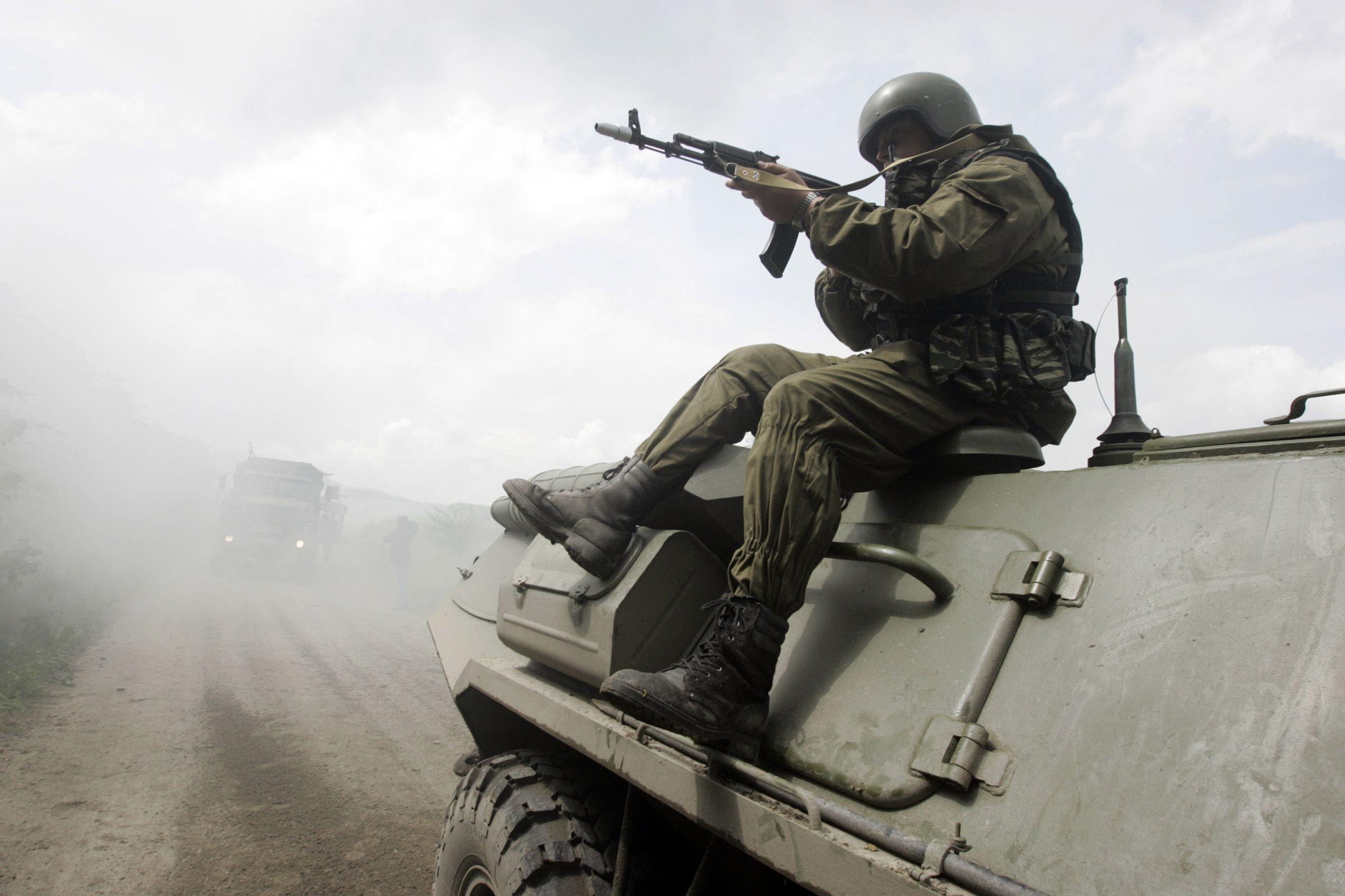 Russian military drill