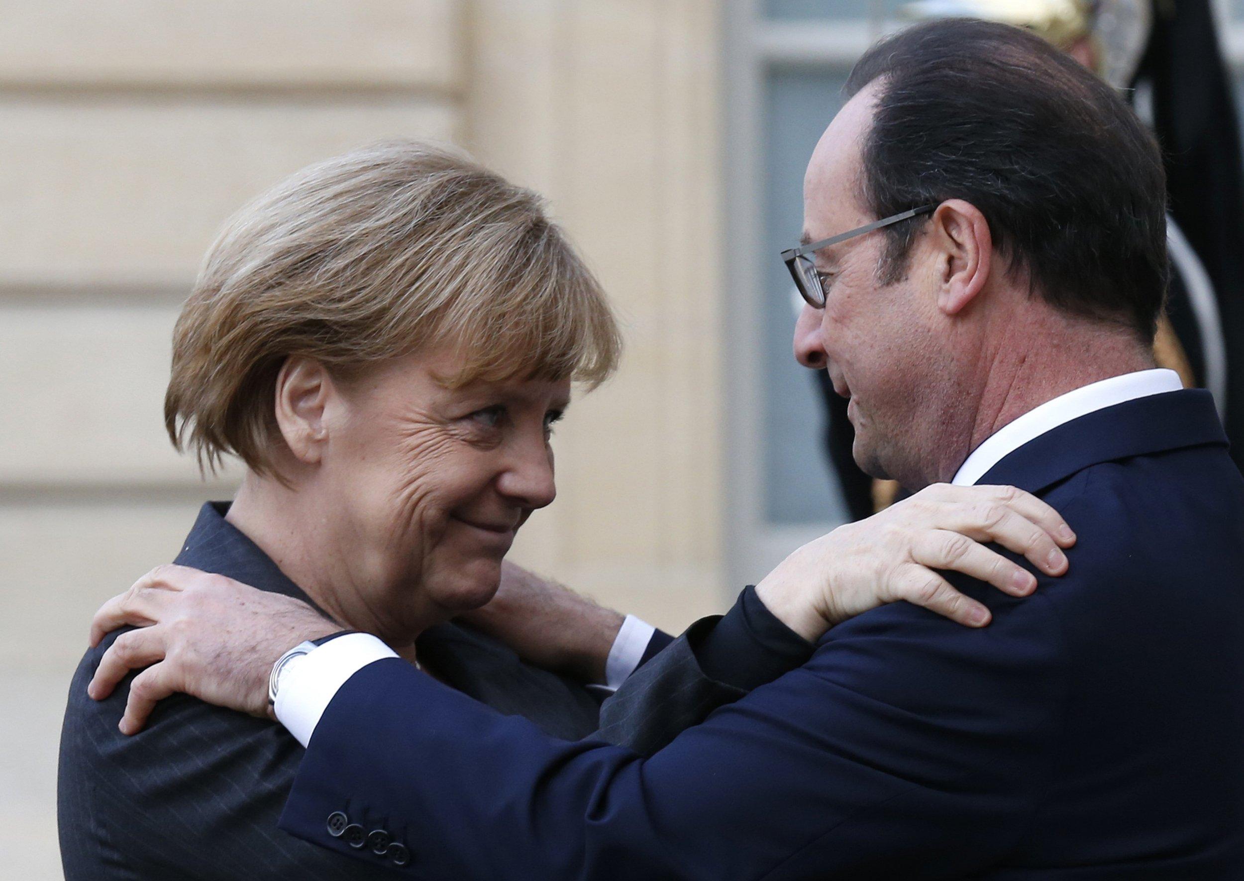 Merkel and Hollande