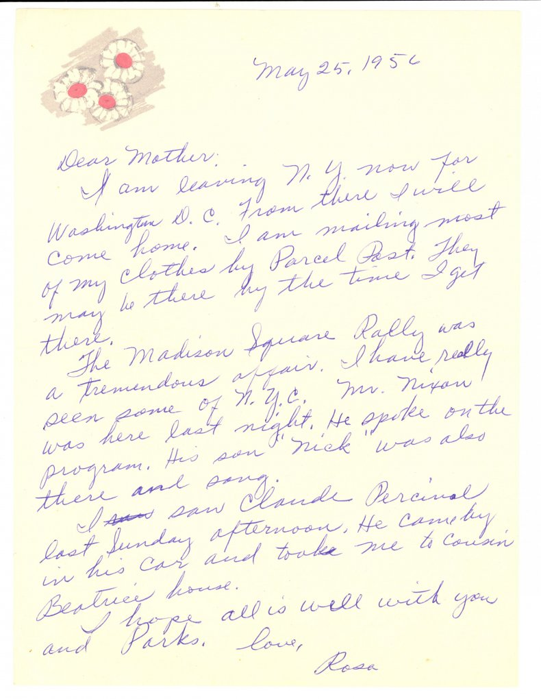 2-7-15 Parks letter to mother
