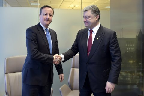 Cameron and Poroshenko