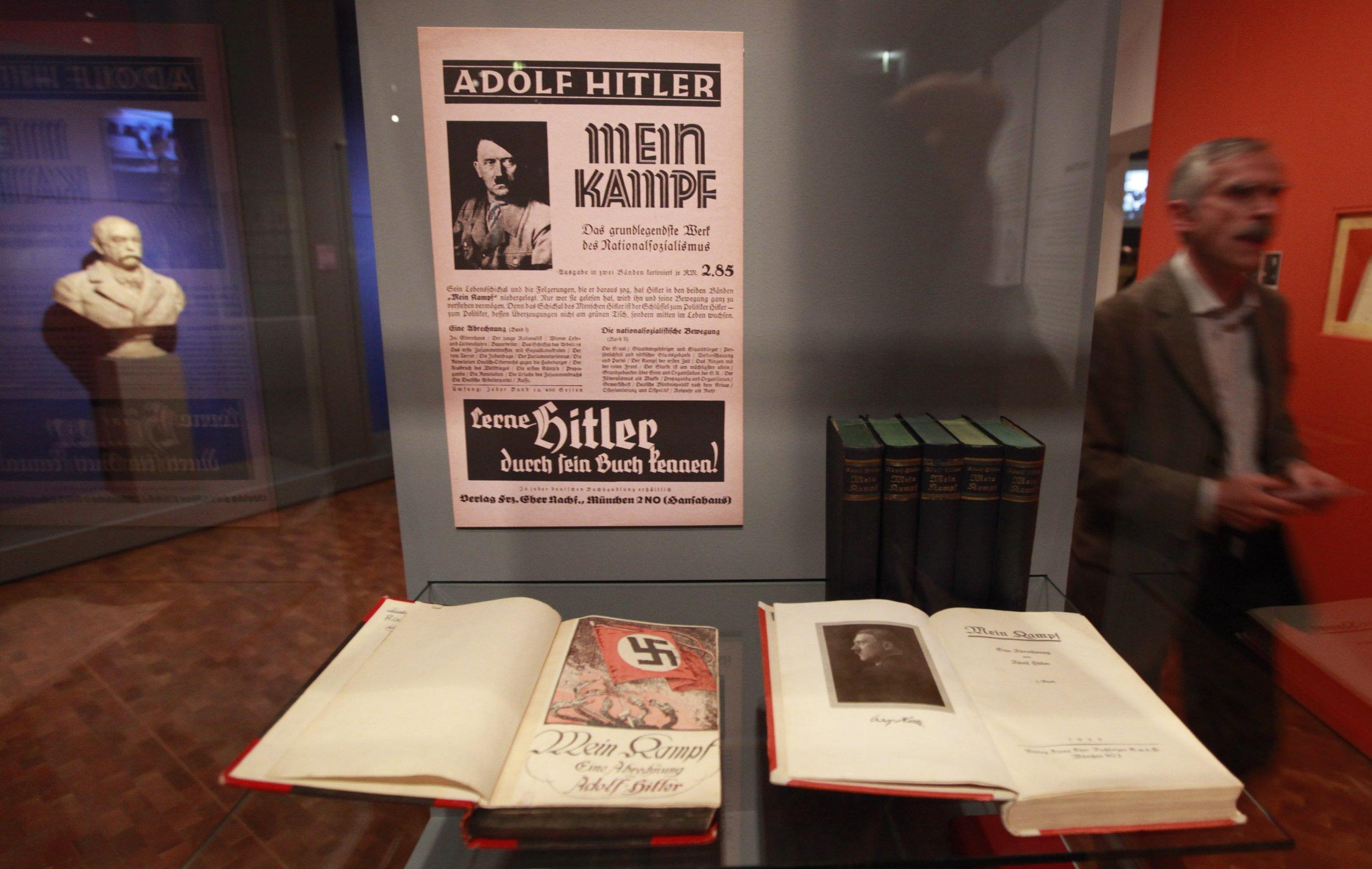 "Copies of Adolf Hitler's book ""Mein Kampf"""