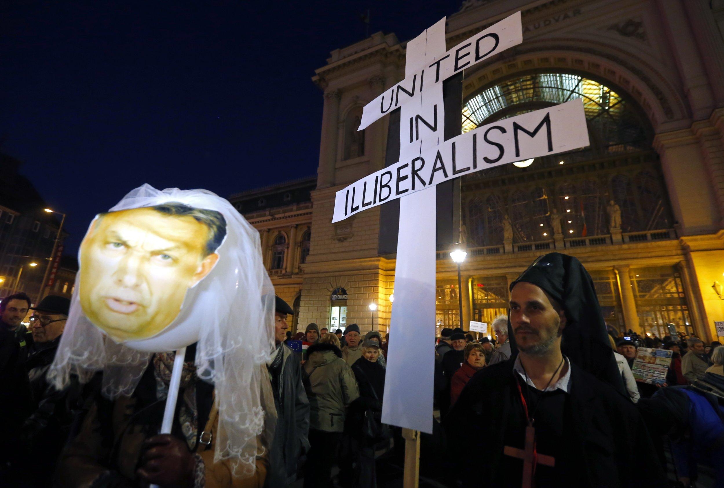 Viktor Orban protest