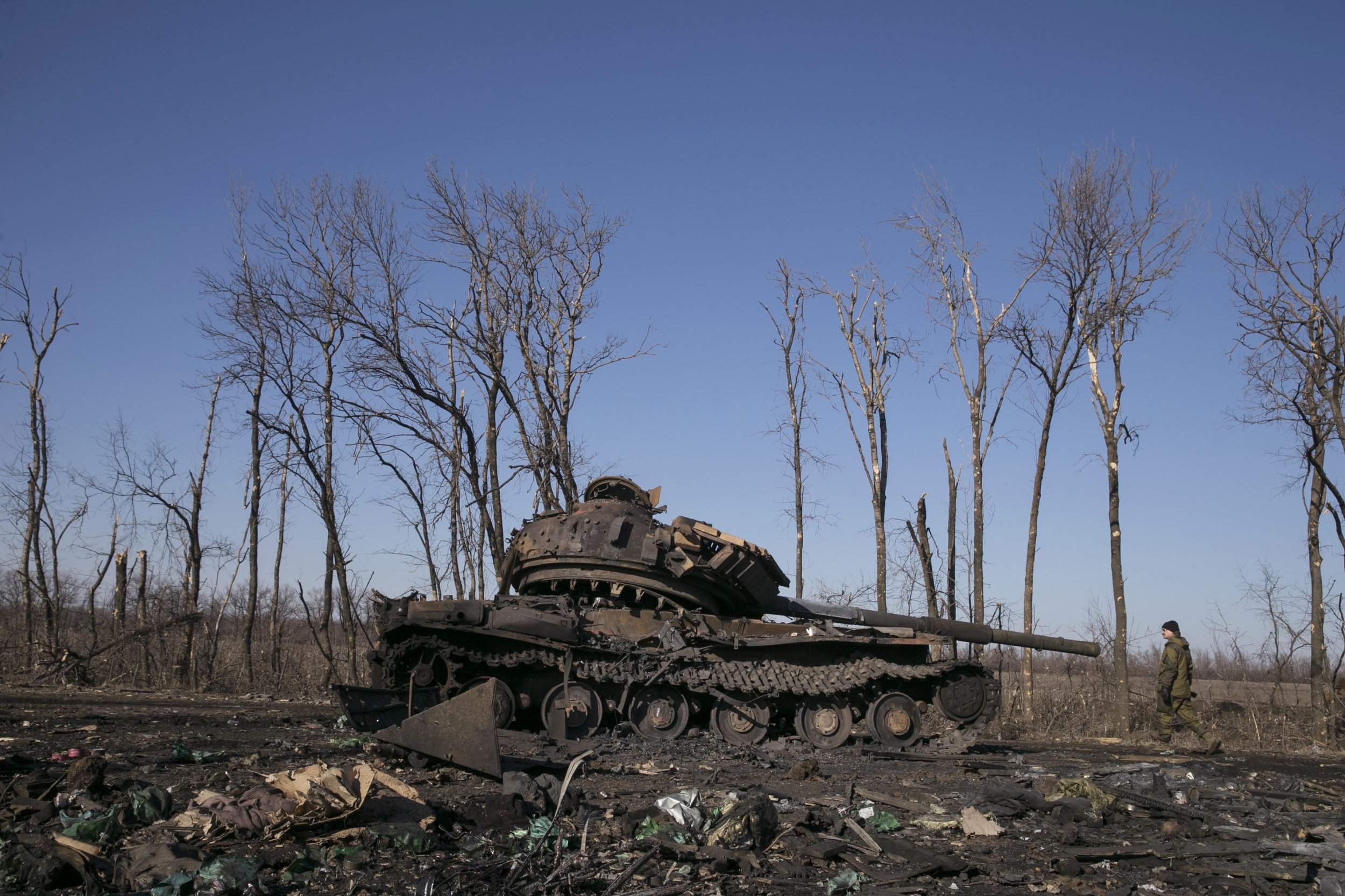 Debaltseve tank