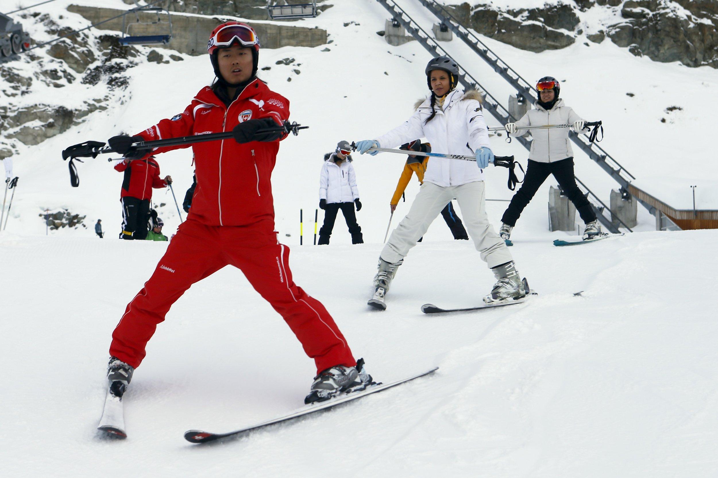 Chinese ski instructor
