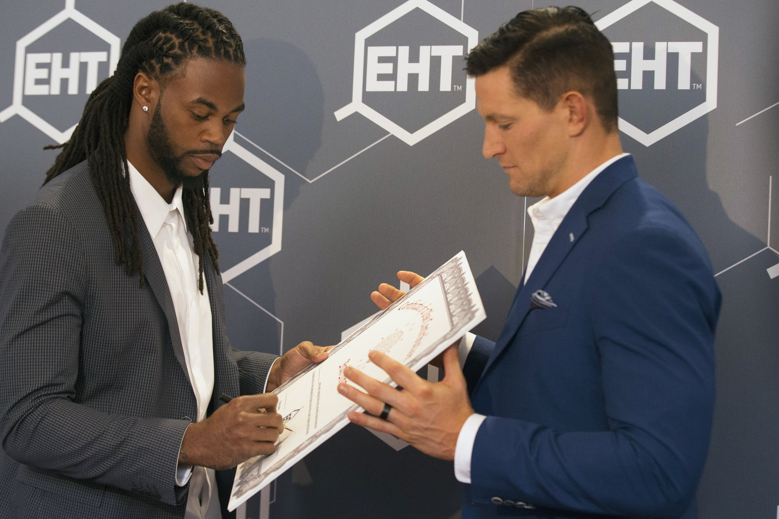 Steve Weatherford and Sidney Rice