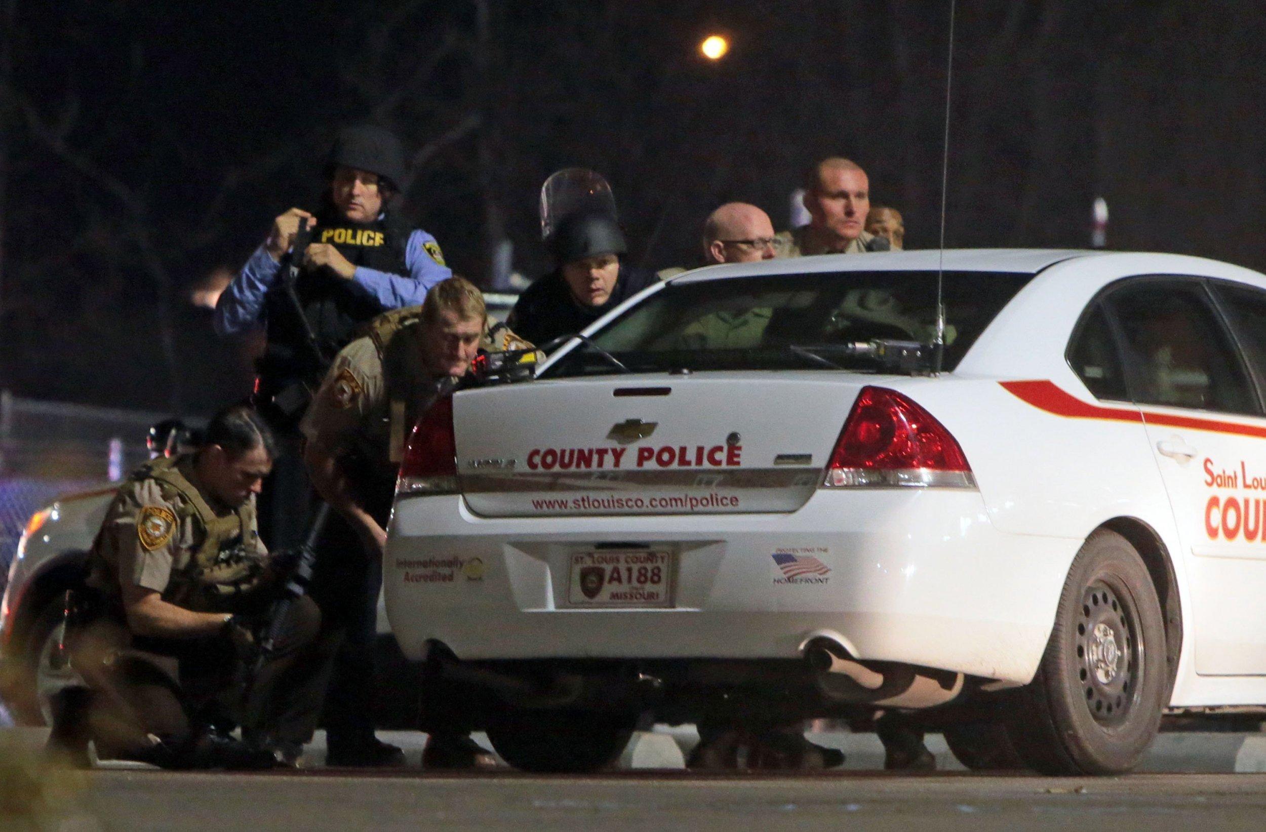 Police Swarm House In Ferguson Police Shooting Investigation