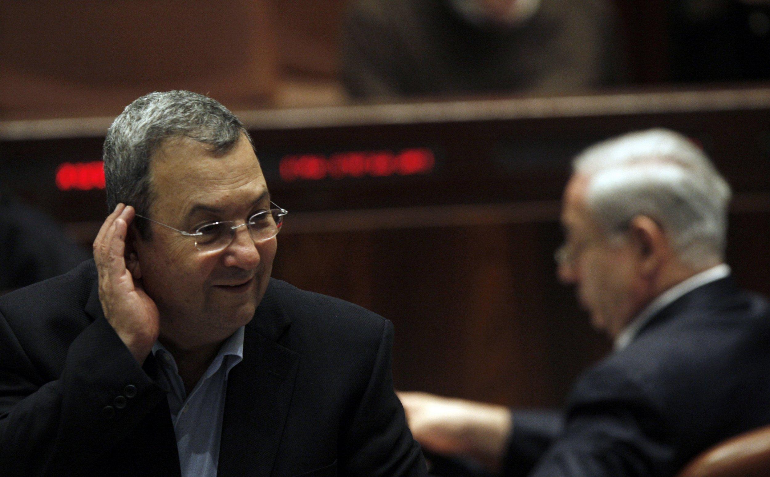 Ehud Barak Israel Netanyahu