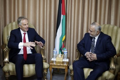Blair in Gaza