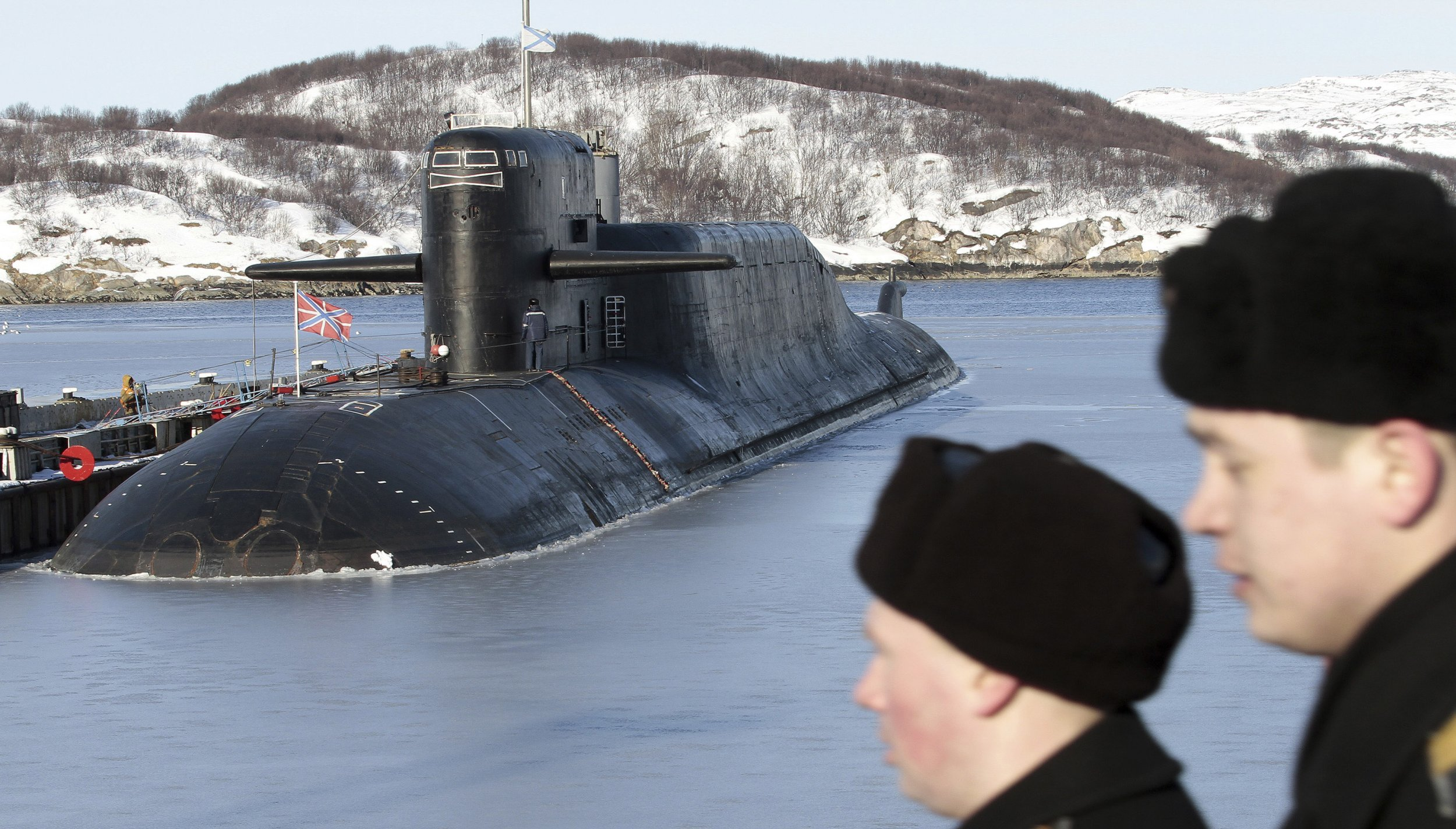 Russian Navy Carries Out Mock Attack On Nuclear Submarine
