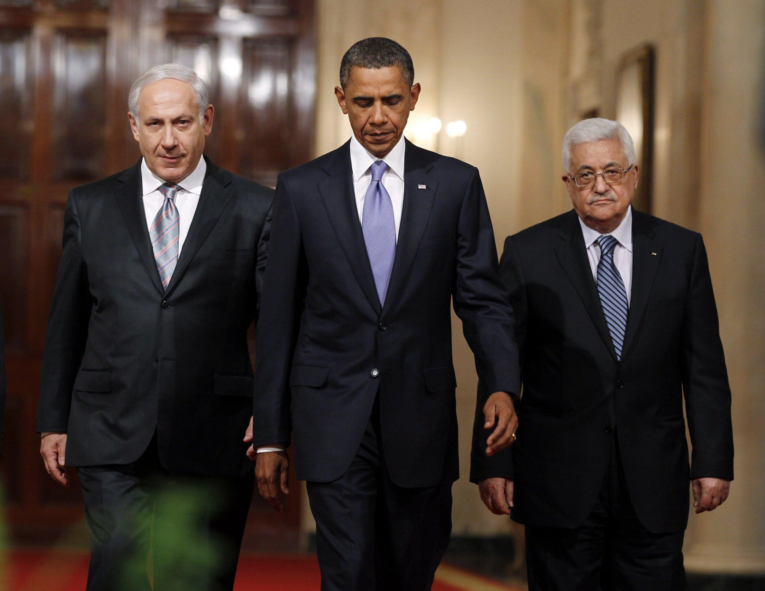 US Obama Netanyahu Abbas Israel Palestine