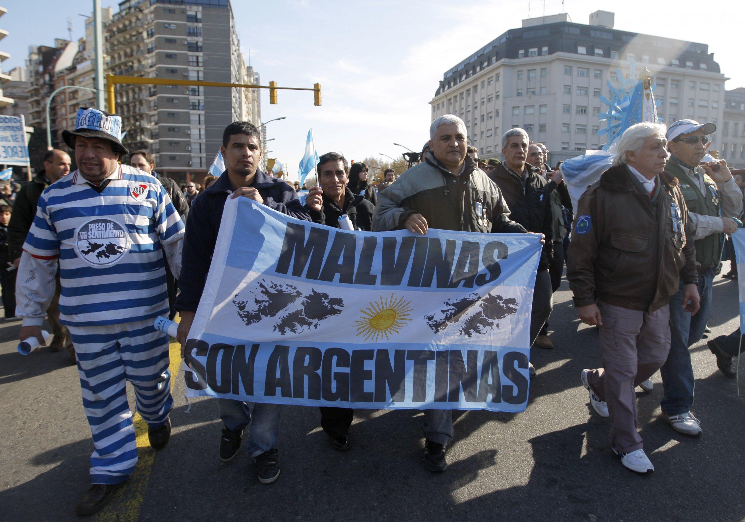 Falklands protest