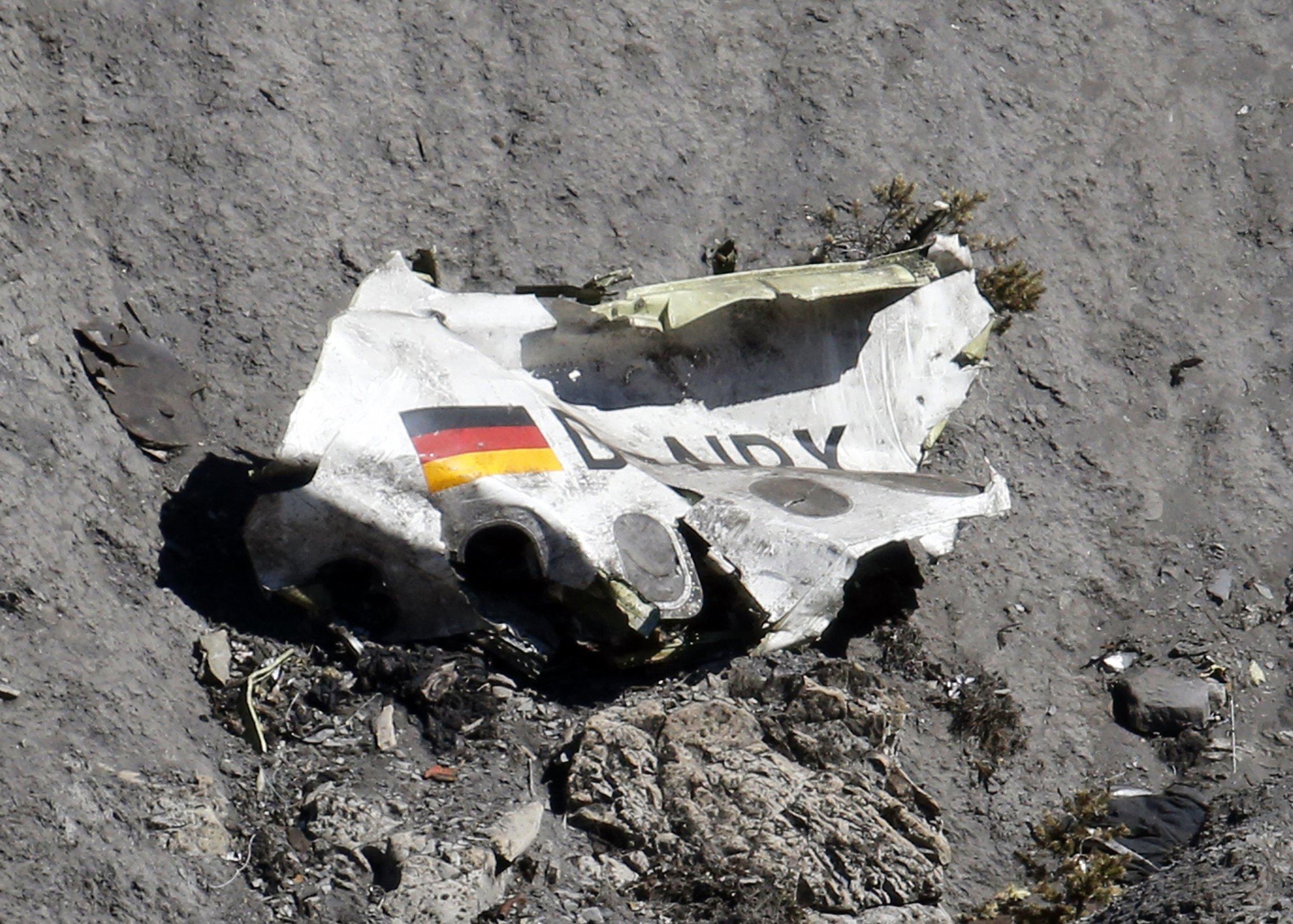 Wreckage of the Germanwings Airbus A320