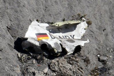 Wreckage of the Germanwings Airbus A320