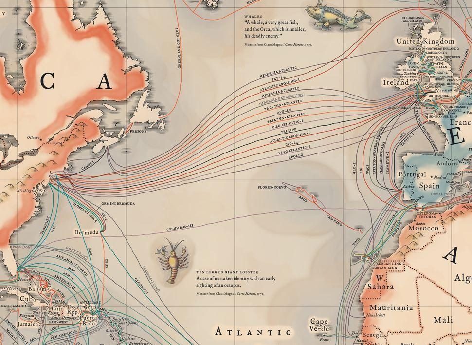 Undersea Cables Transport 99 Percent of International Data
