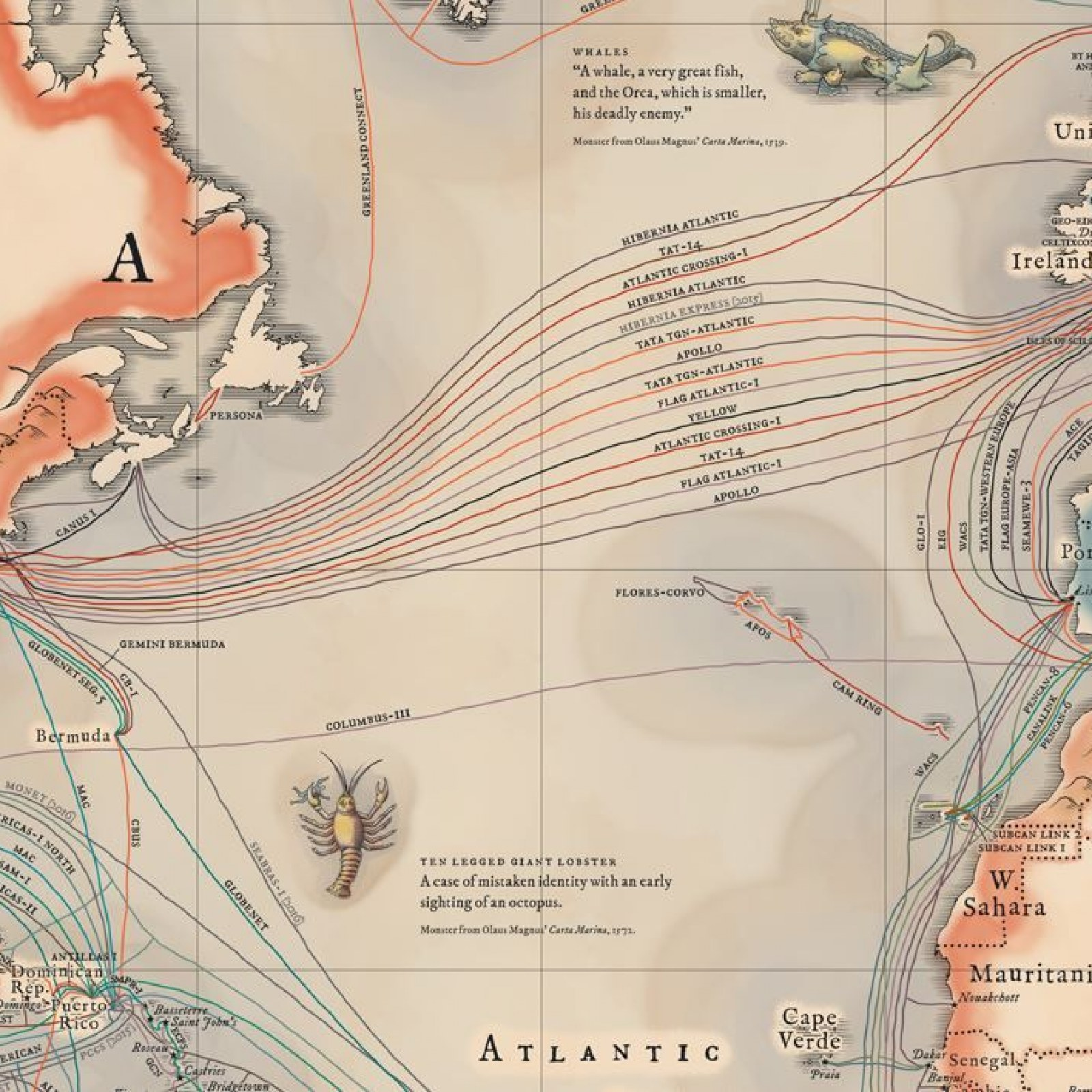 Undersea Cables Transport 99 Percent of International Data on underwater communication cables, eastward of sea routes map, underwater fiber optic cables, underwater pacific ocean map, pse kv transmission line map, napoli map,