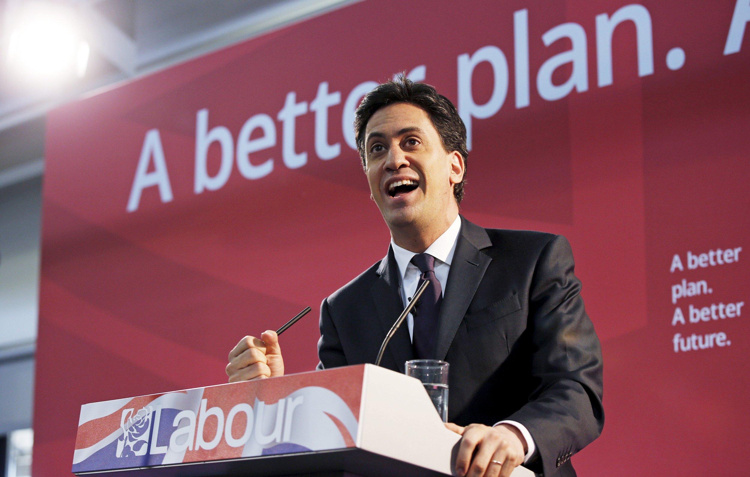 Miliband Labour UK Conservative