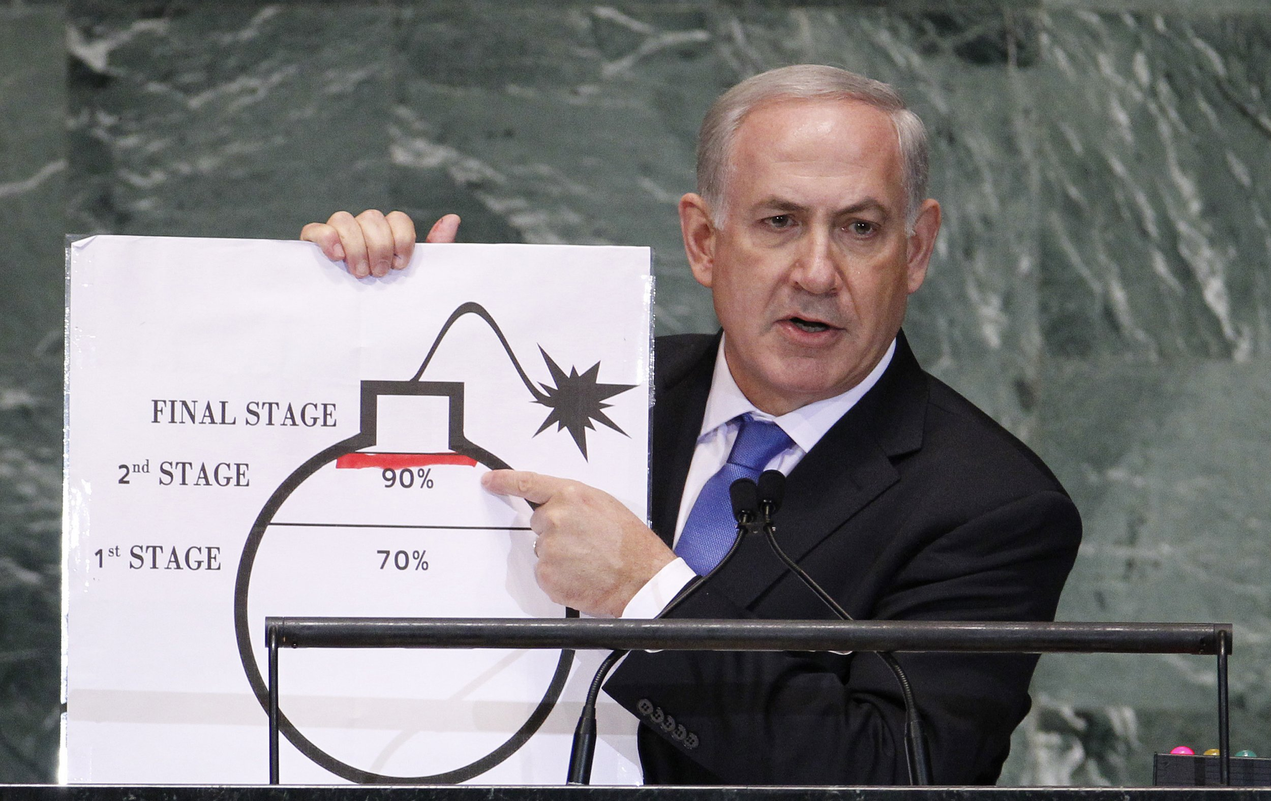 Image result for netanyahu at un iran