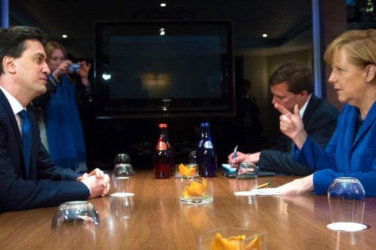 Ed Miliband and Angela Merkel held talks in London last year