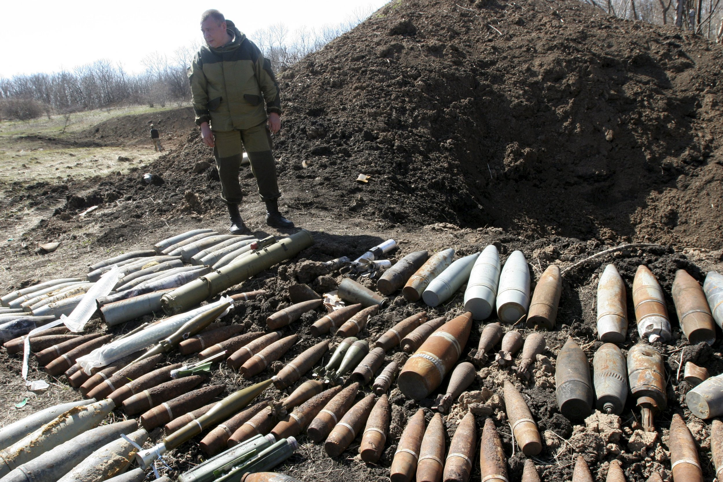 Donetsk unexploded shells