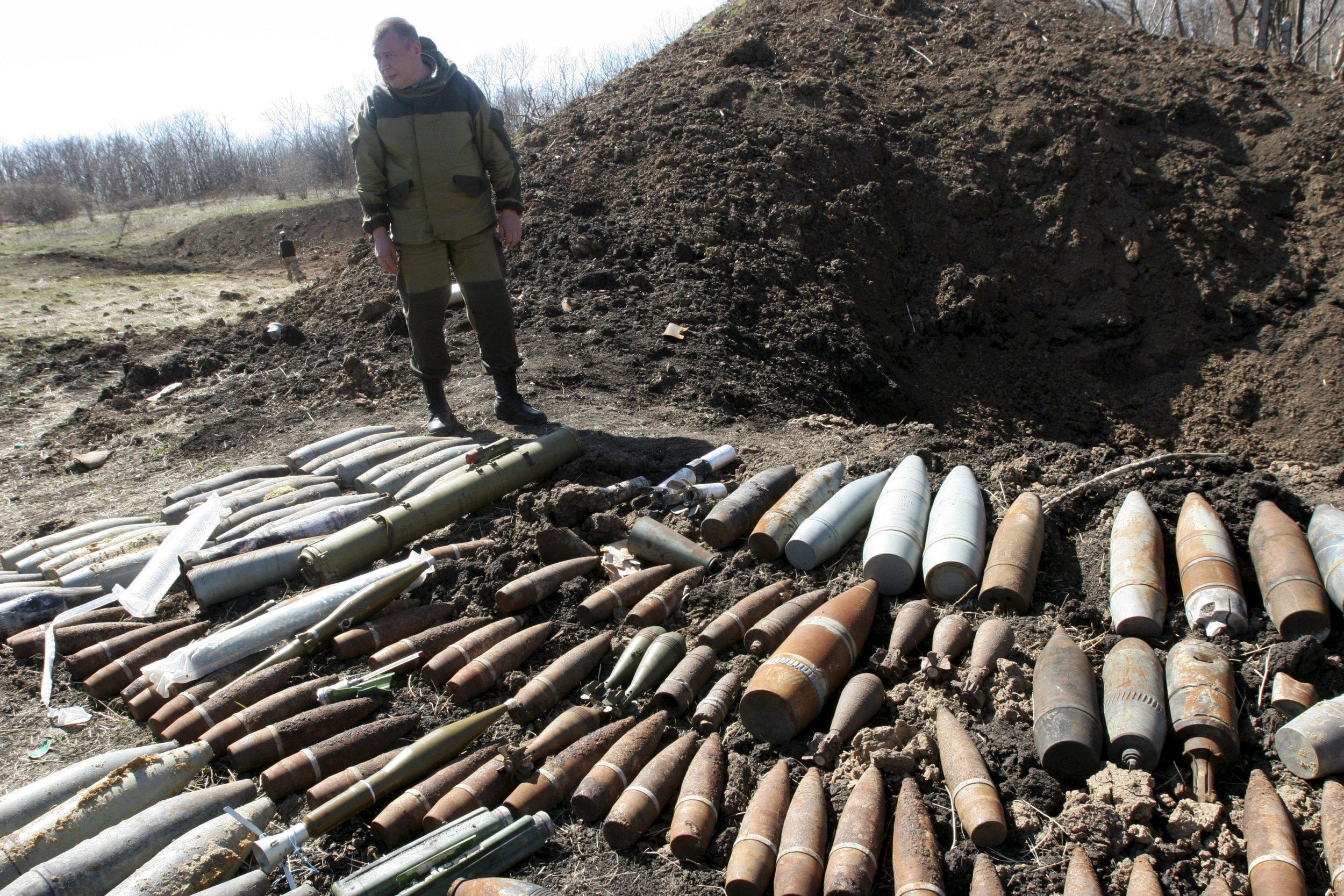 Donetsk unexploded shells