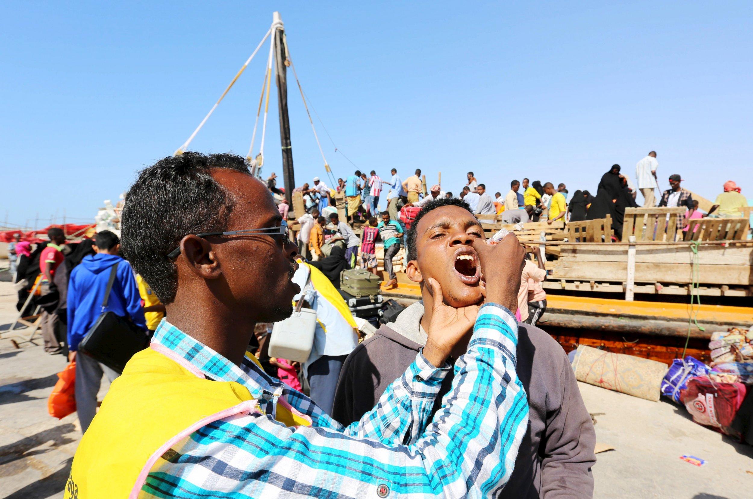 Yemen refugees in Somalia