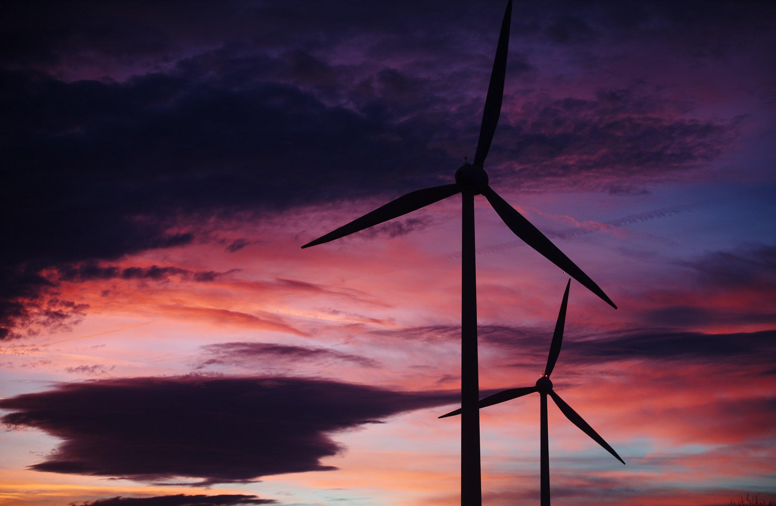 wind-turbines-sunset