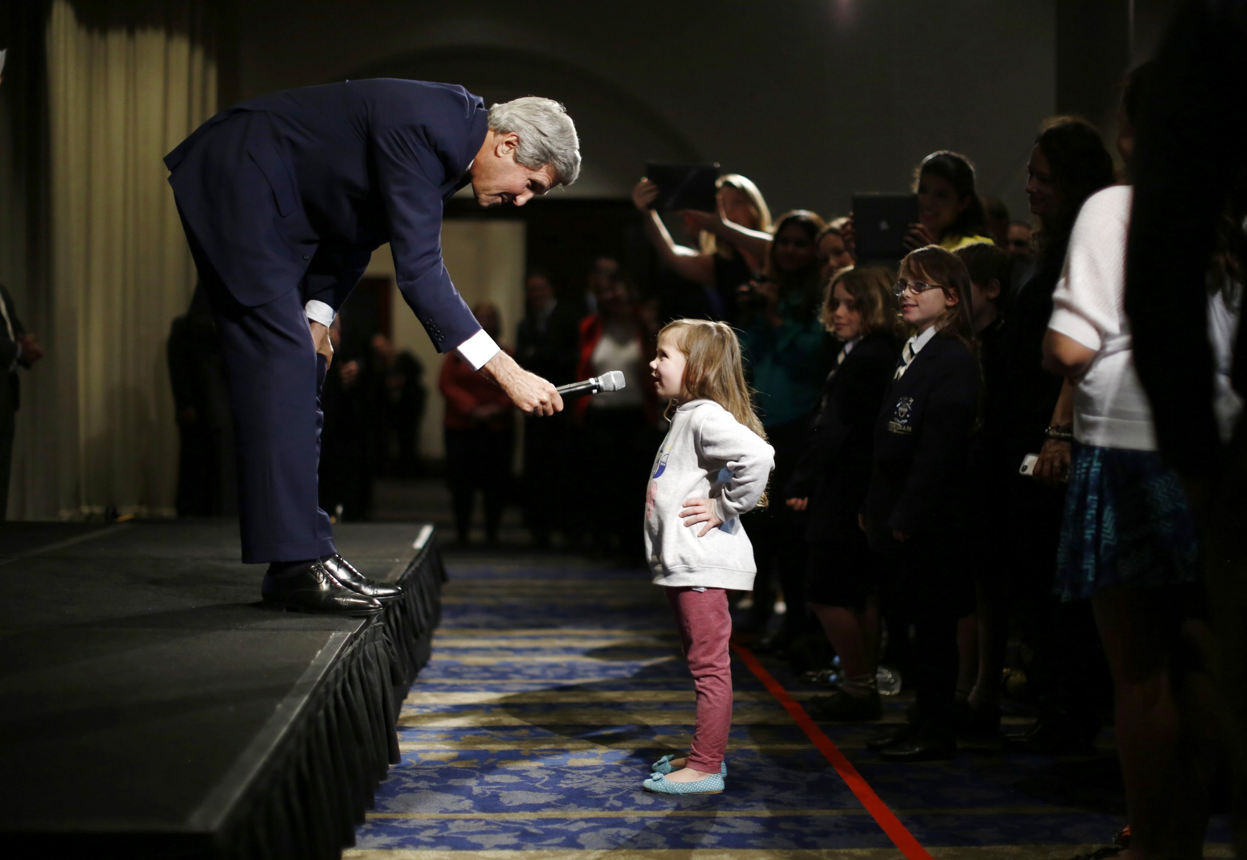 John Kerry and five year old