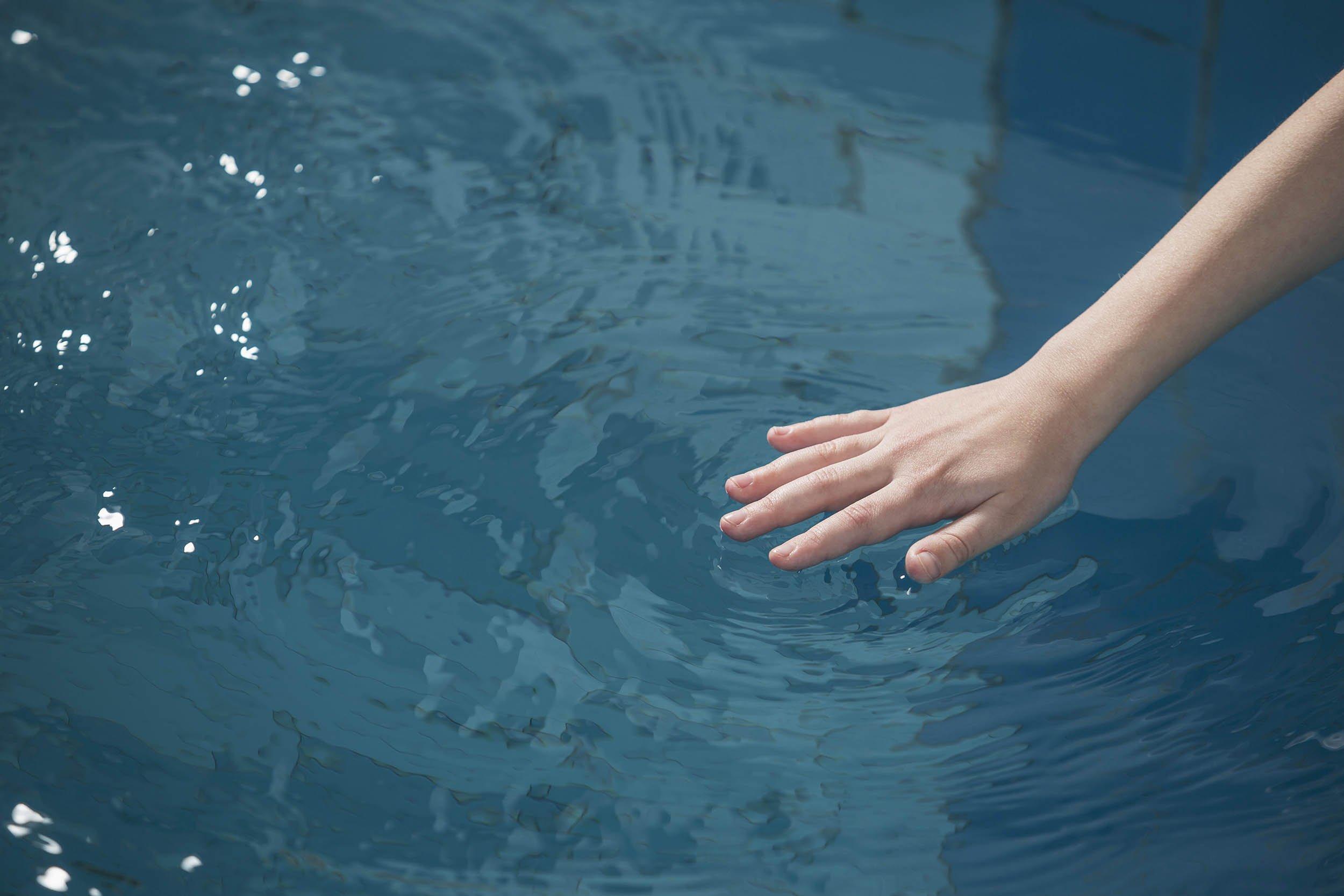 Touch breast public swim