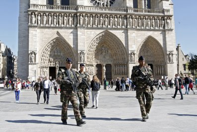 French soldiers Notre Dame