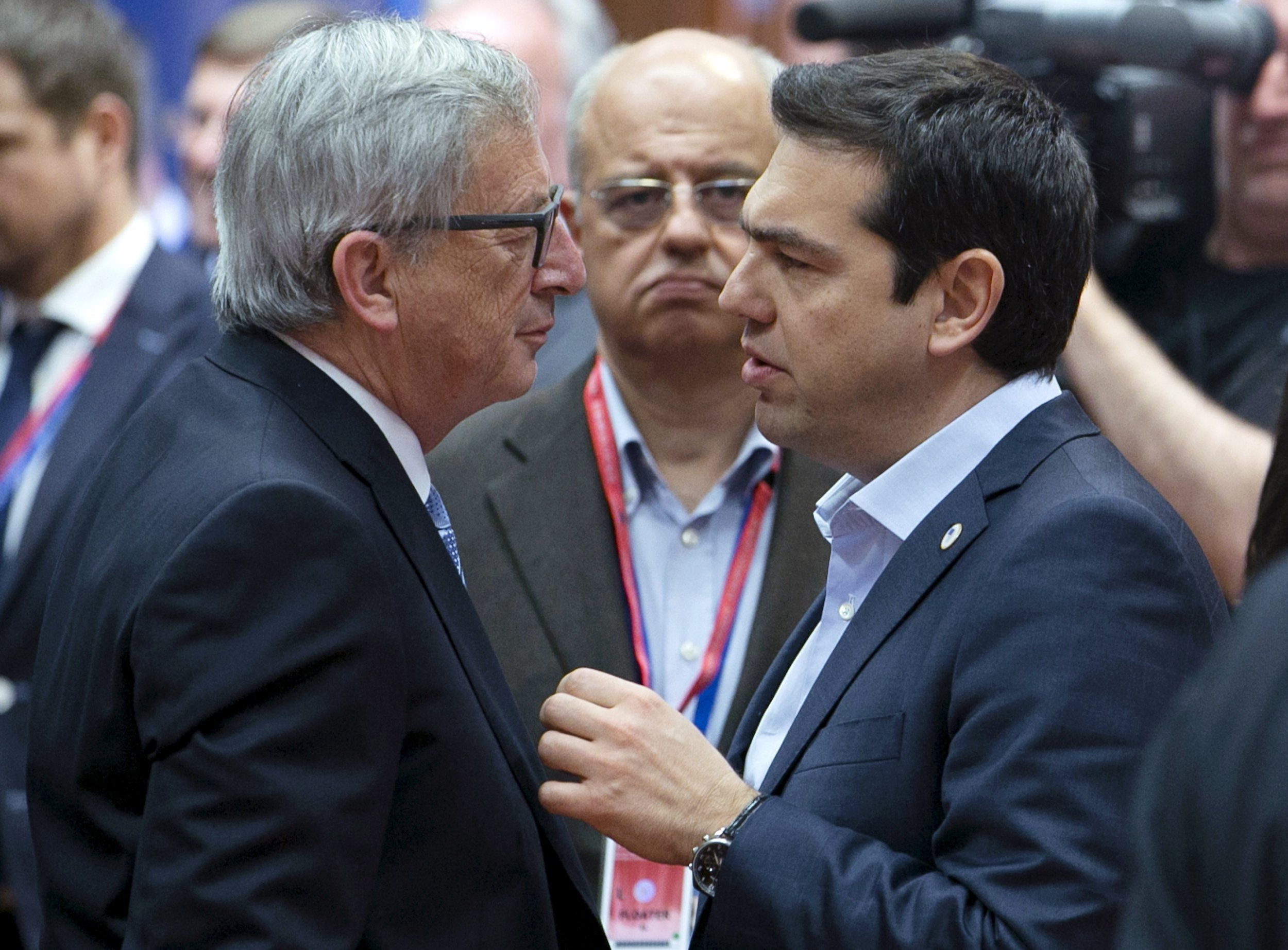 Juncker and Tsipras