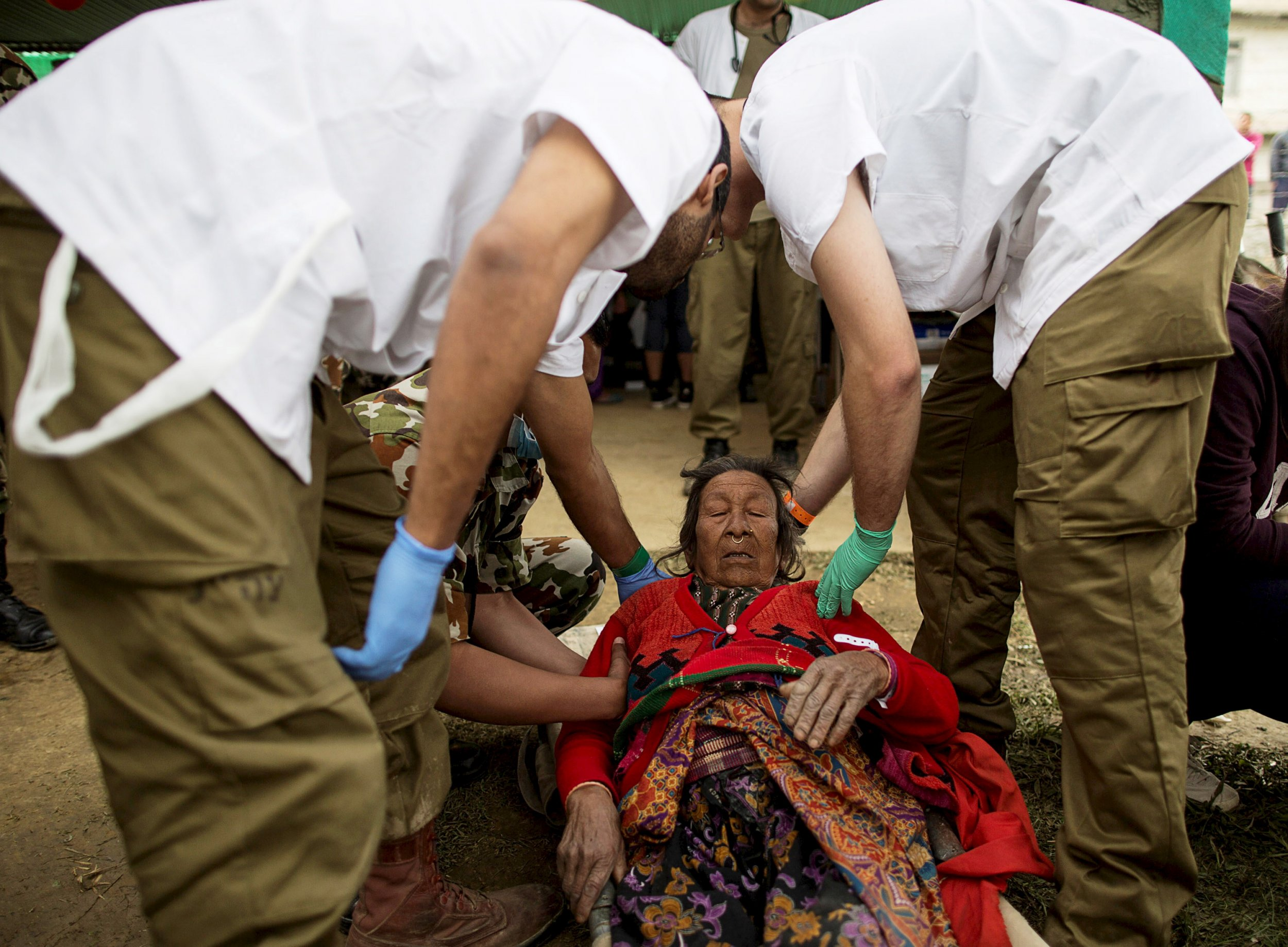Injured Nepal Resident and Doctors