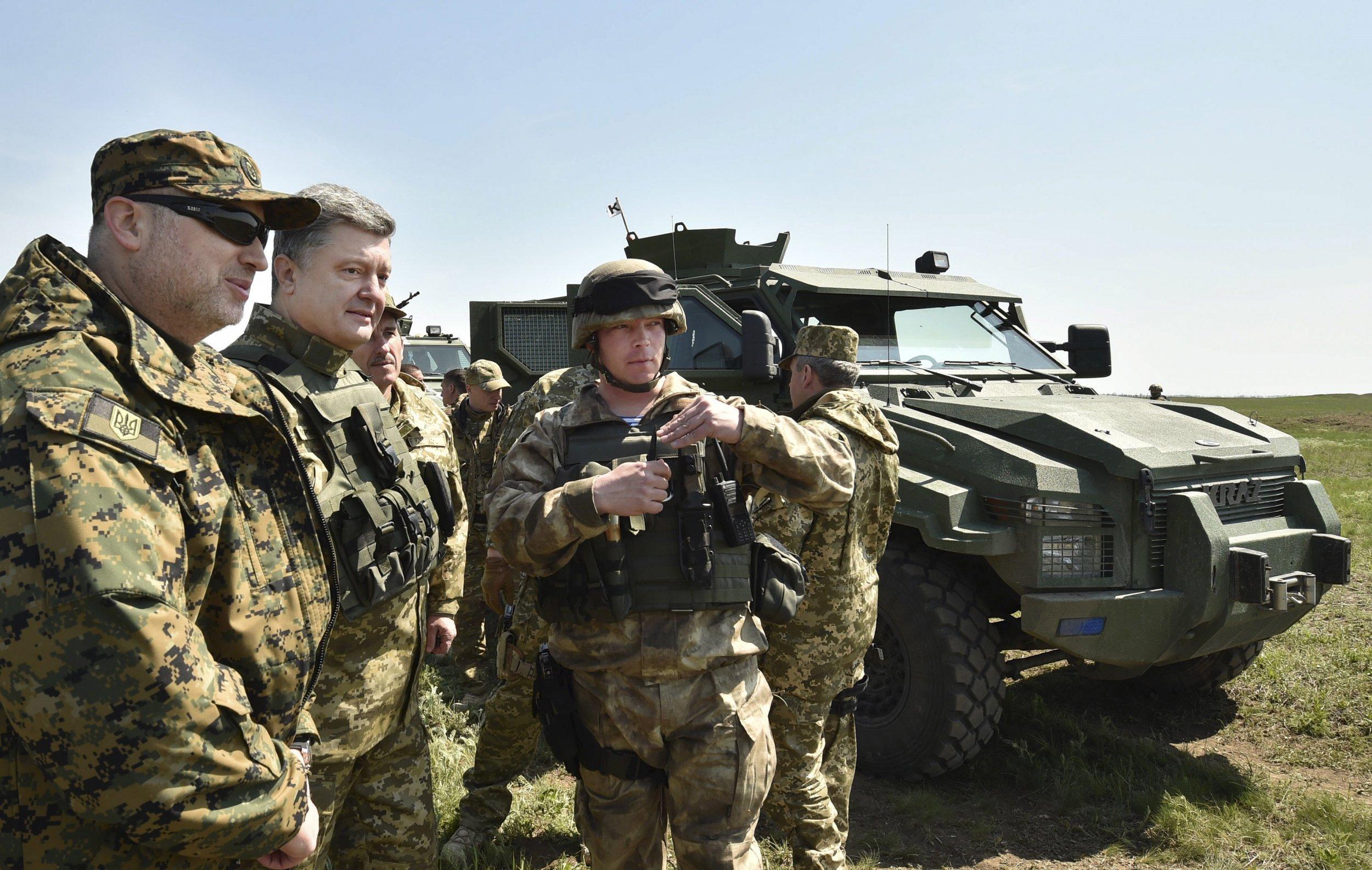 Ukraine military drill